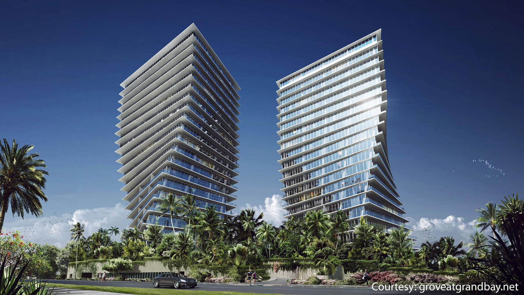 The Grove at Grand Bay's condos are among Miami's most-coveted residences.   Image courtesy of groveatgrandbay.net