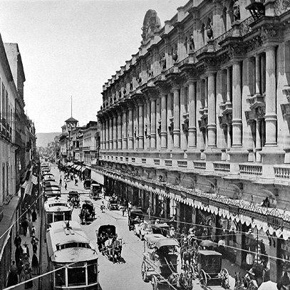 Photo. Vintage picture of Calle 16 de Septiembre.