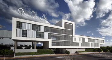 the image shows the Design and Architecture School ITESM of Queretaro, Mexico