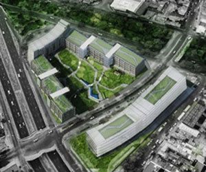 the image shows the ICA Headquarters Office Complex in mexico city mexico