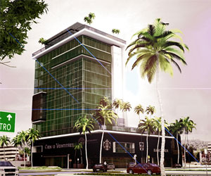 the image shows the cosmopolitan tower in tijuana mexico